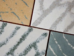 Sample of MarbleSkin with different colors mixed together